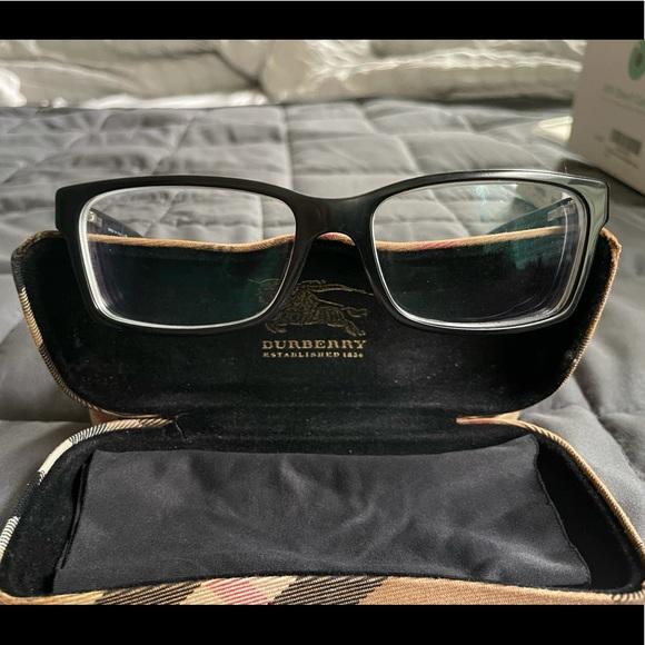 Burberry Unisex Black Designer Eyeglasses
